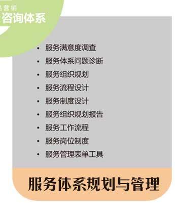 工业品营销服务体系规划与管理